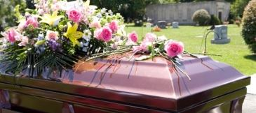 Pink Coffin at Grave